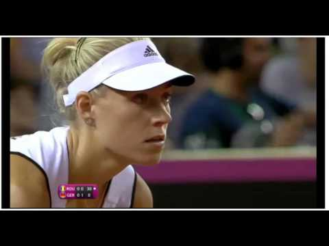 Angelique Kerber vs Simona Halep Round 2 Fed CUP - Germany vs Romania