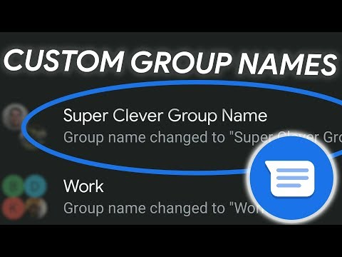 Change Group Message Names In Google Messages! (2019 Update!)