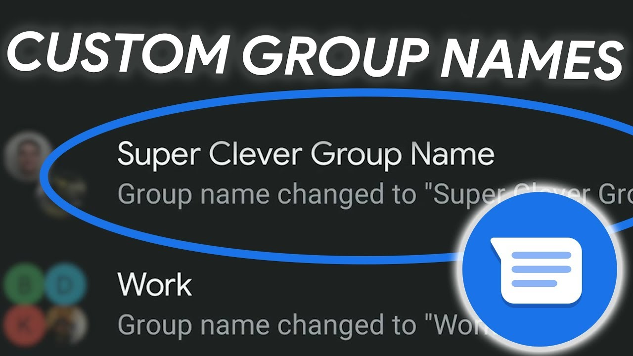 How to change group message name