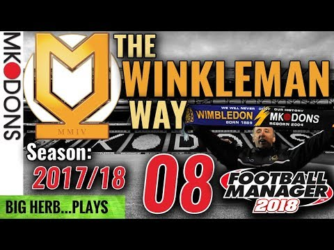 FM18 MK Dons Let's Play Ep 8 - FA Cup & the 'Dons' Blackpool & AFC Wimbledon - Football Manager 2018