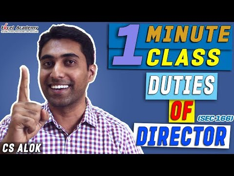 DUTIES OF DIRECTOR (Sec 166)