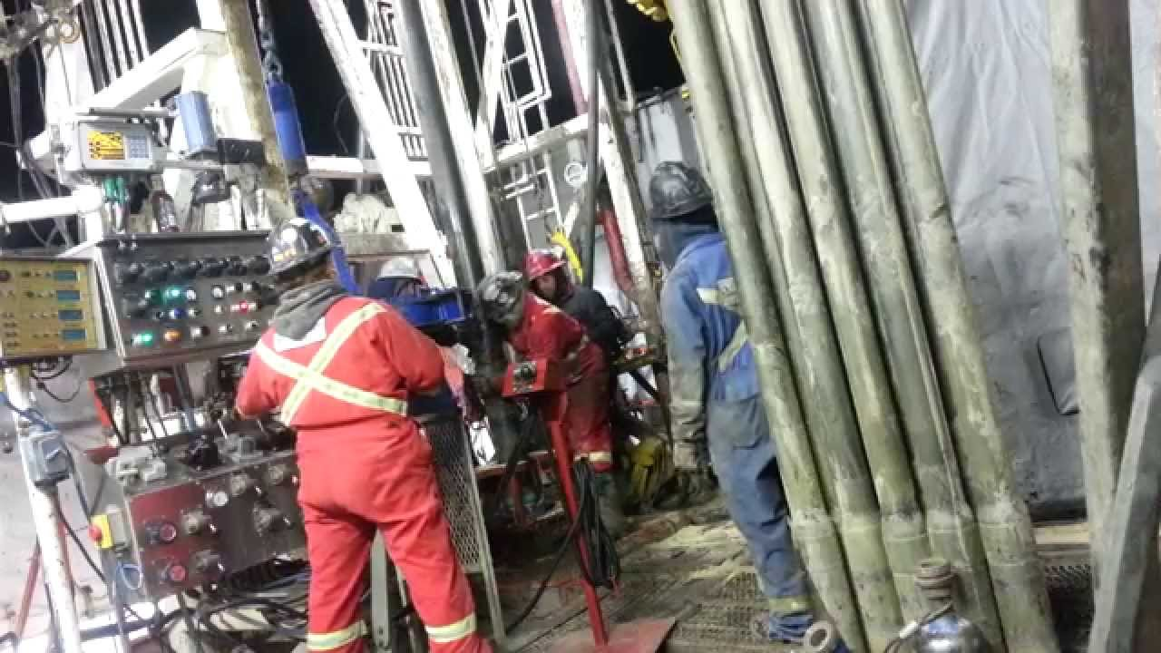 Running In Casing On A Drilling Rig Youtube