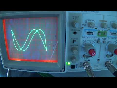 Low Frequency Audio Generator Accuracy Check With Line Frequency