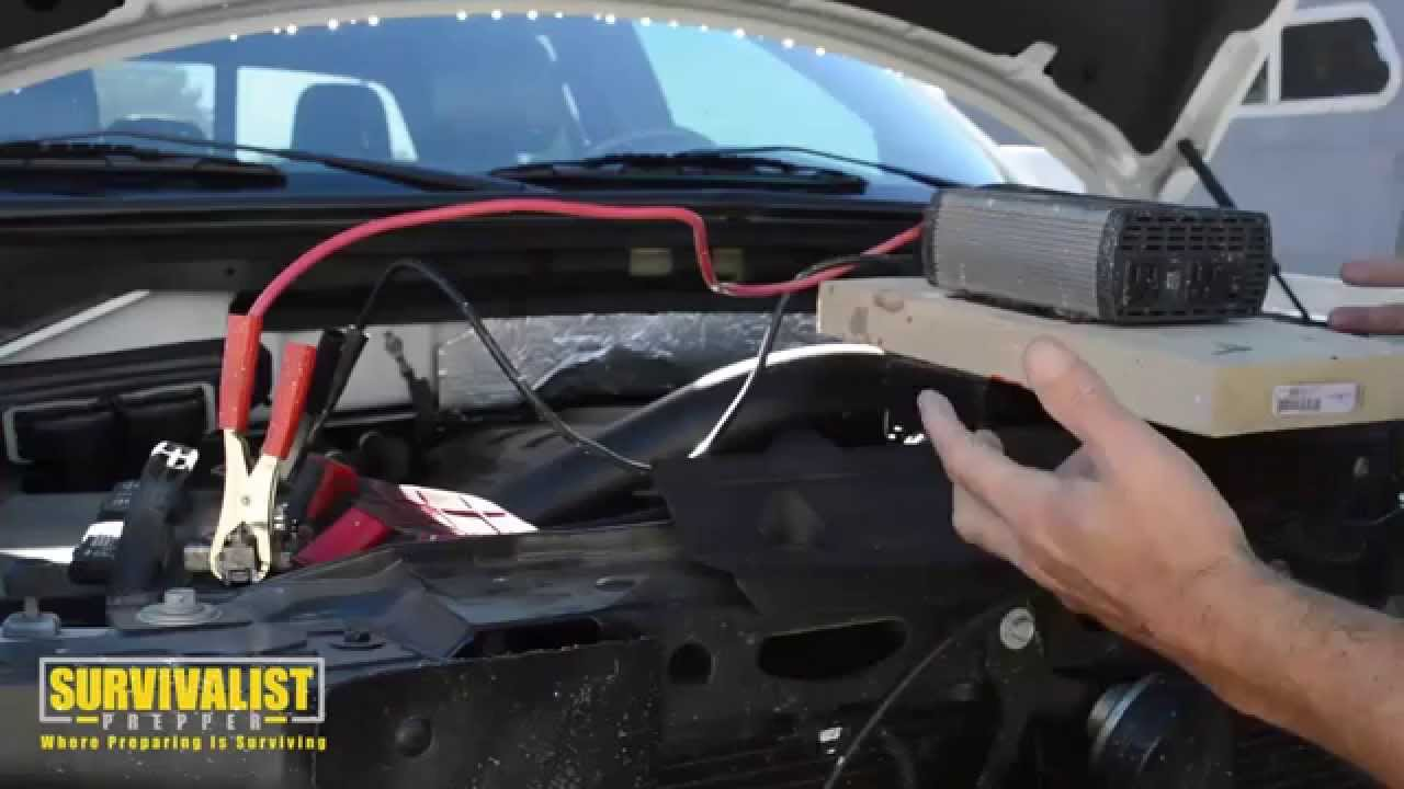 Connecting A Power Inverter To A Car Battery Youtube