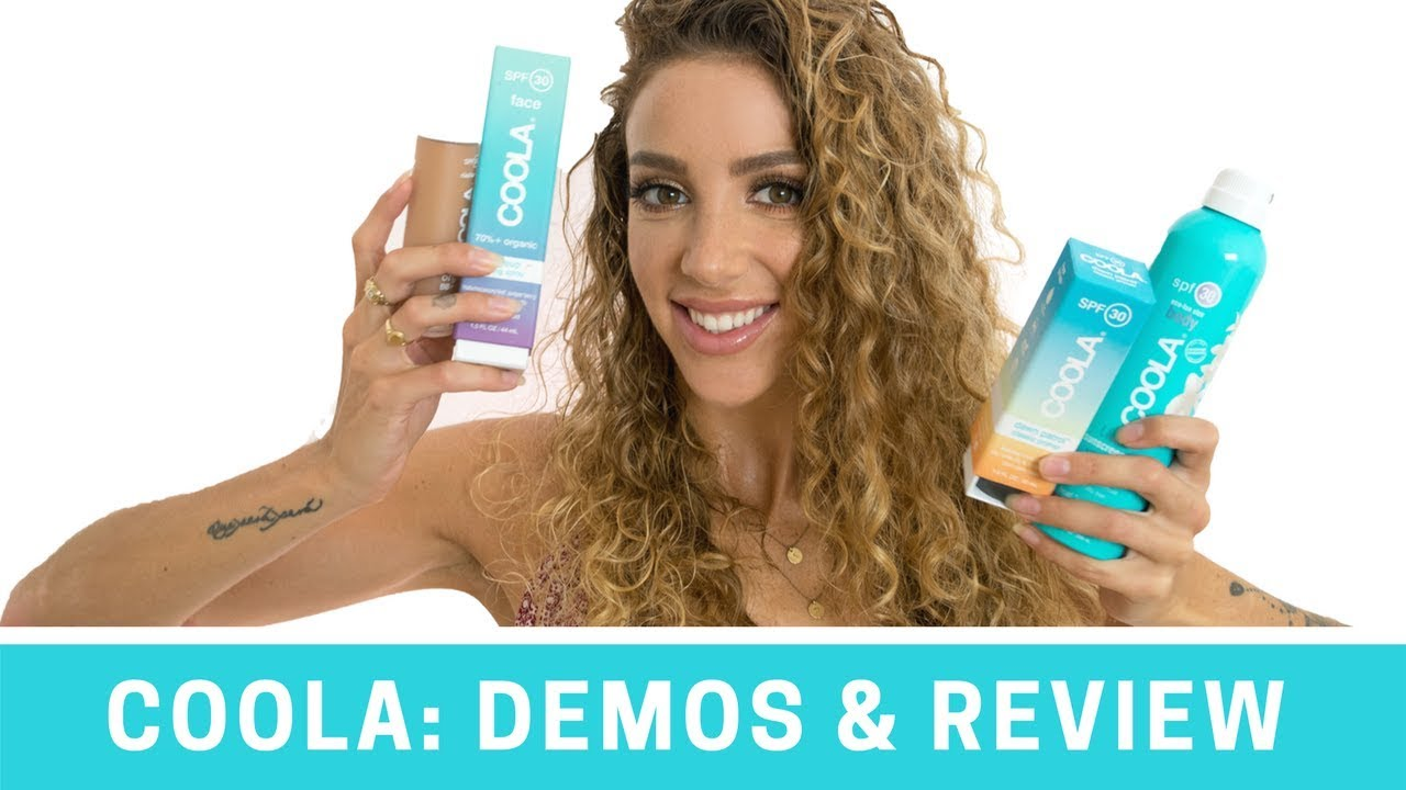 Download COOLA Review & Demo of 8 DIFFERENT Products | Vegan, Cruelty-Free, Organic Sun Protection