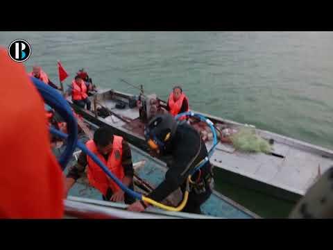 Hallan a 71 metros bajo el agua el autobús de pasajeros hundido en China