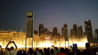 Dubai Fountain with the opening song