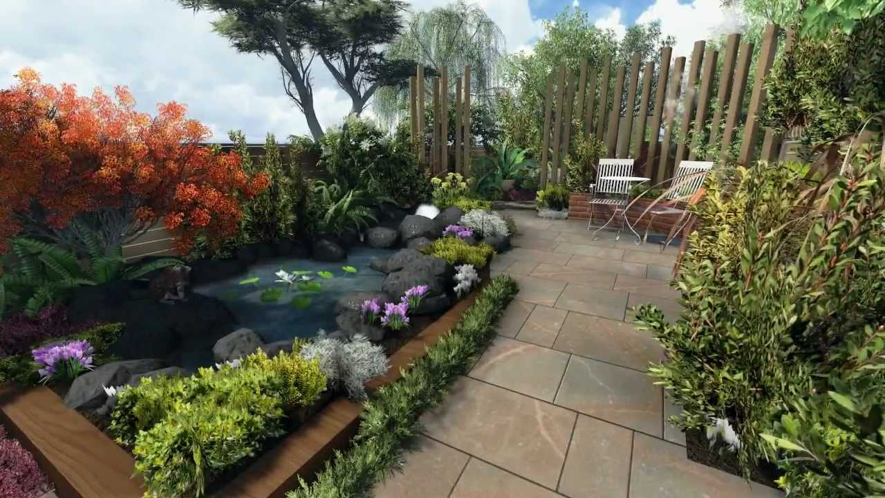 secluded garden design
