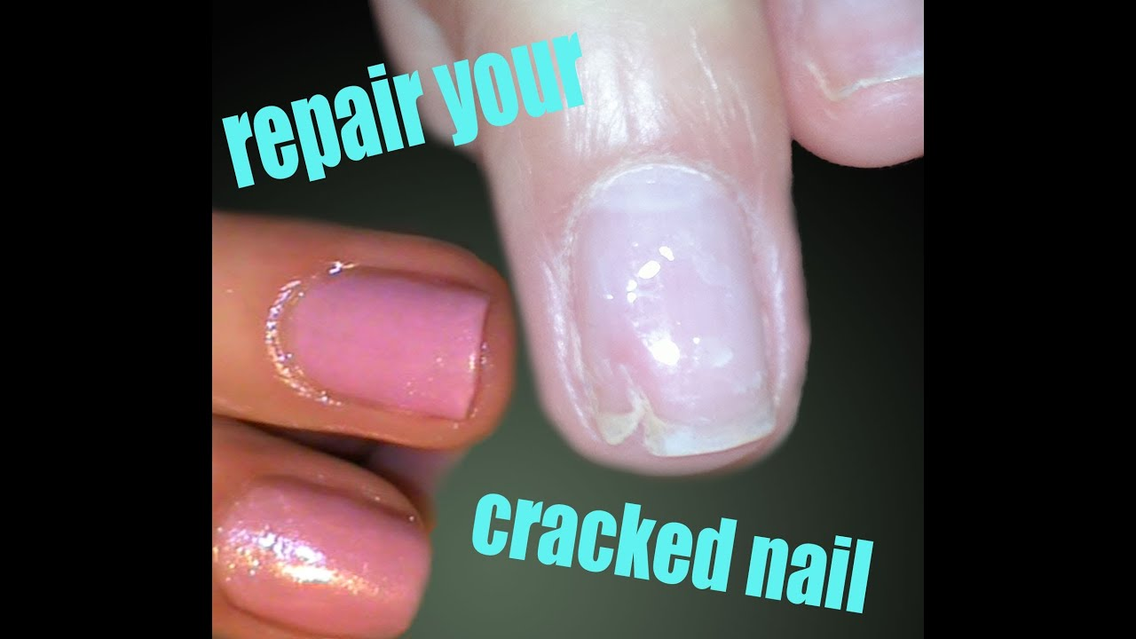 How to Patch a crack natural nail video tutorial - YouTube