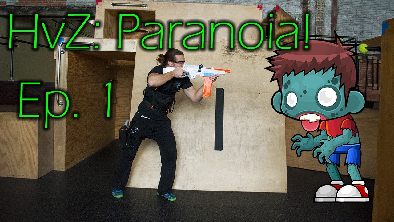 CQB Nerf Gameplay #3 – Humans vs. Zombies: Paranoia! [Rival Apollo, Nerf Hammershot]