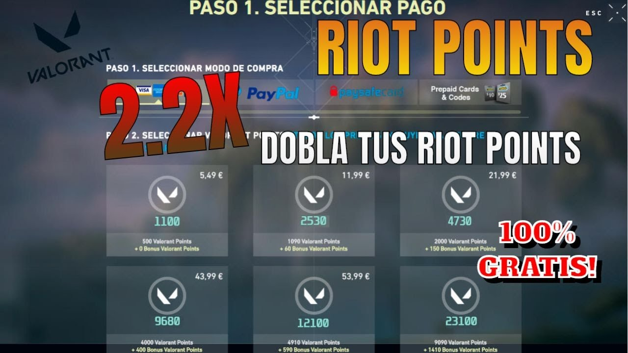 RIOT REGALA RIOT POINTS EN VALORANT!! - YouTube