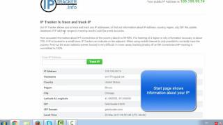 IP Tracker to track and trace any IP addresses. IPTracker.info