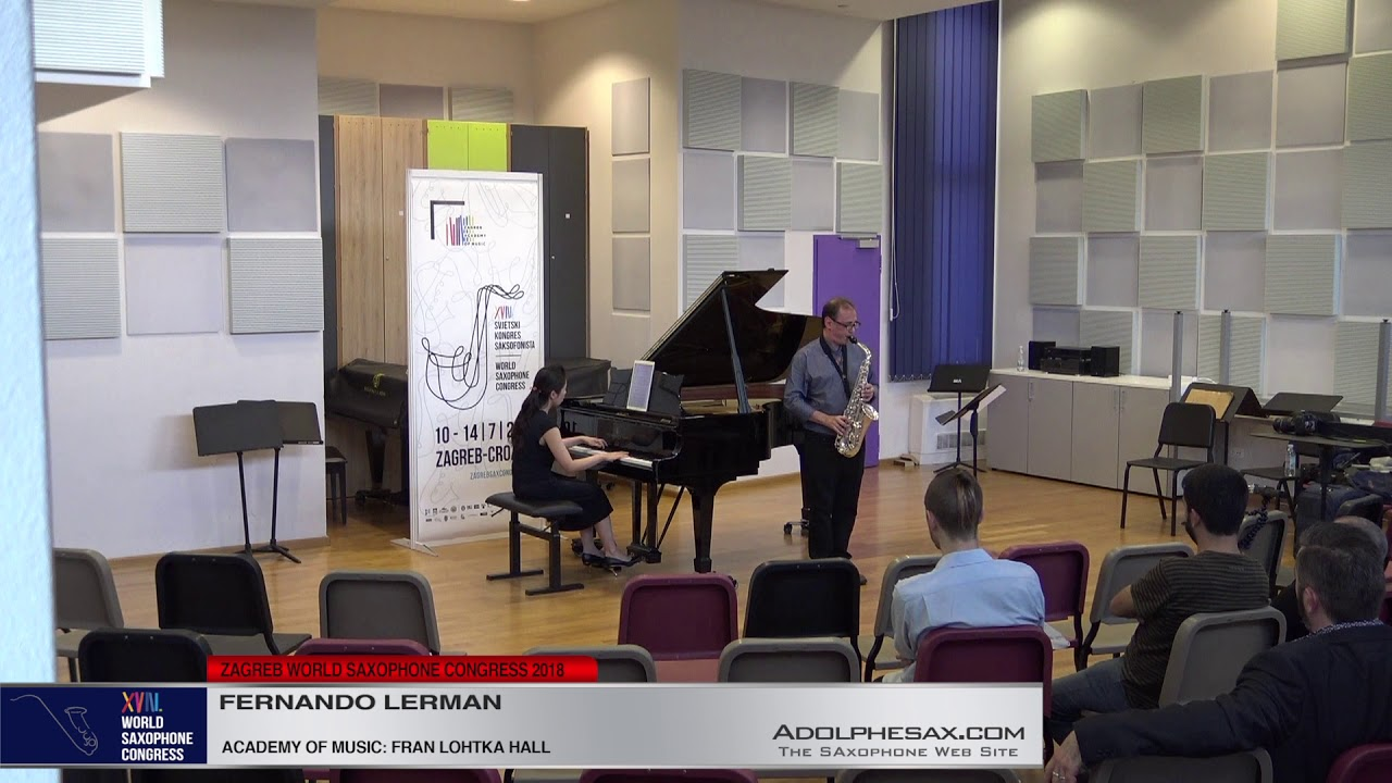 Sonata by Fernando Lerman   Fernando Lerman   XVIII World Sax Congress 2018 #adolphesax