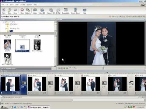 Photoshop CS2 - Phan 18 - Bai 3 - Tao phim VCD tu anh KTS voi Proshow Gold