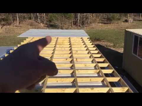Metal Roof Idea - Shipping Container