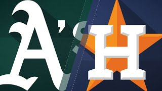 Montas, Piscotty lead A's past Astros, 2-0: 7/9/18