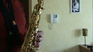 Test Meyer G 7 (.085 Toni Ribó) alto sax mouthpiece.MPG