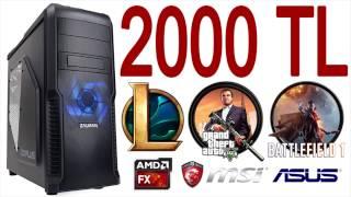 2000 TL Bütçe ile Oyun Bilgisayarı Toplama Tavsiyesi