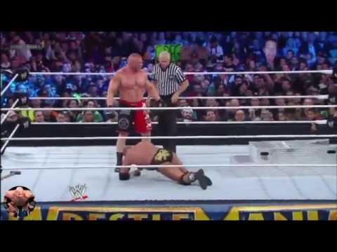 Triple H Vs Brock Lesnar Match Highlights HD thumbnail