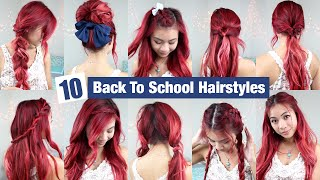 10 Back To School Hairstyles l Quick & Easy Hairstyles for School