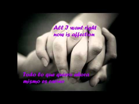 All American Rejects - Affection lyrics (English-Spanish)