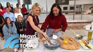 Ayesha Curry Shows Megyn Kelly How To Make A Roast Chicken Dinner In One Pan   Megyn Kelly TODAY
