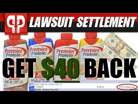 Get up to $40 Back! Premier Protein LAWSUIT Settled!
