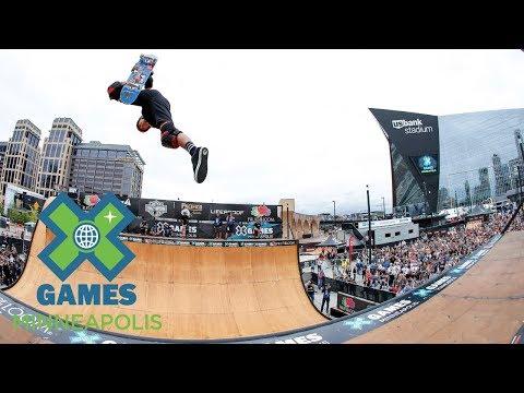FULL BROADCAST: Fruit of the Loom Skateboard Vert Final   X Games Minneapolis 2017