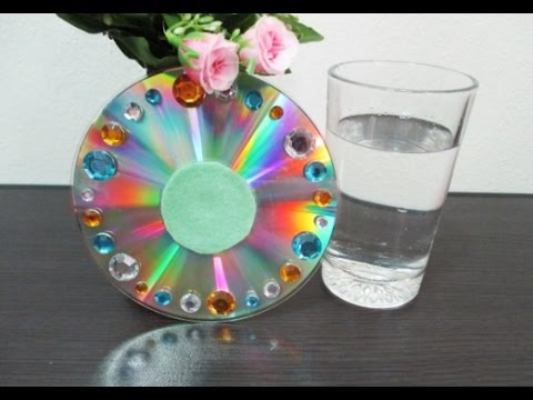 DIY #110 | Party Coaster From RECYCLED CD ♥