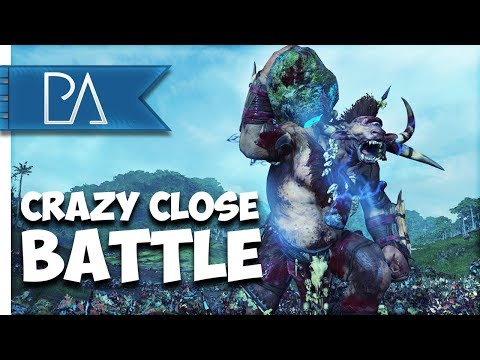 CRAZY CLOSE FFA BATTLE - Total War: Warhammer 2 Multiplayer Gameplay