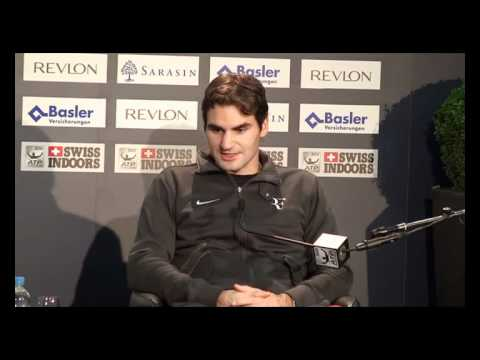 Federer press conference in QF of Basel (beat Stepanek)