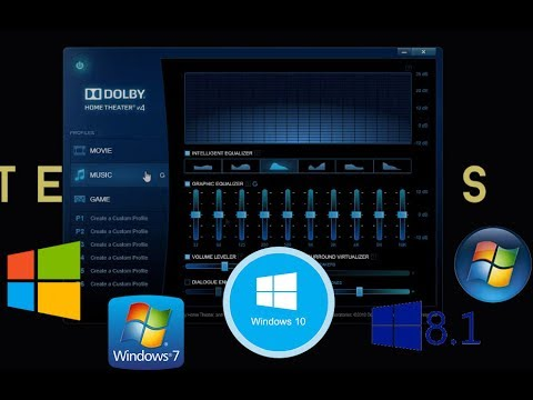 How to install Latest Dolby Atmos /home theatre/Advanced audio on any pc [Windows 7,8,8.1,10] 2017