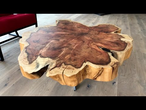 Gigantic Cookie Slab Coffee Table - Sequoia - DIY