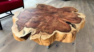 Gigantic Cookie Slab Coffee Table - Sequoia