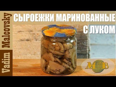 Консервация сыроежки маринованные с луком. Как законсервировать грибы. Мальковский Вадим