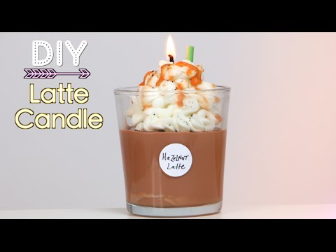 DIY Starbucks Latte Candle (Holiday Gift Idea)