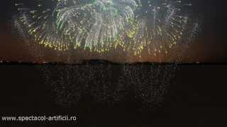 Simulare Piromuzical Artificii Euphoria Loreen  by www.pyroart.ro
