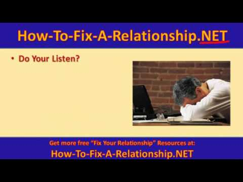 How To Fix A Relationship With Your Girlfriend
