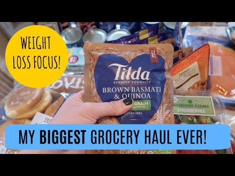 MASSIVE WEIGHT LOSS TESCO GROCERY HAUL | MRS RACHEL BRADY |UK STAY AT HOME MUM
