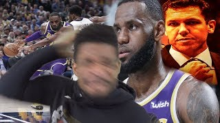 I DEMAND LUKE WALTON IS FIRED!!! LAKERS vs PACERS HIGHLIGHTS REACTION