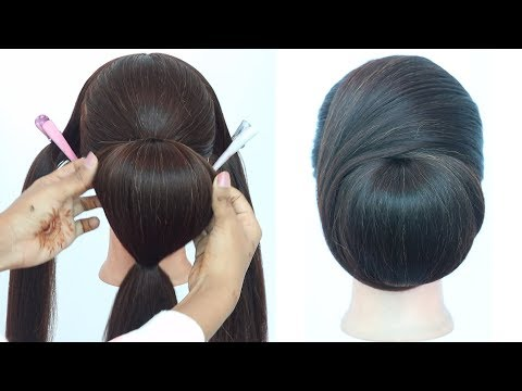 very easy hairstyle for ladies || hairstyle for thin hair || cute hairstyles || updo hairstyles thumbnail