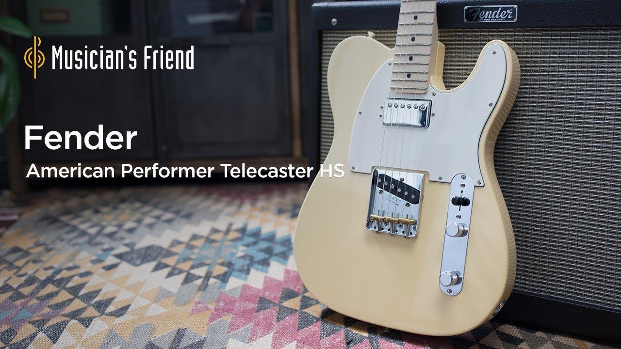 fender american performer telecaster hs maple fingerboard electric guitar musician s friend [ 1280 x 720 Pixel ]