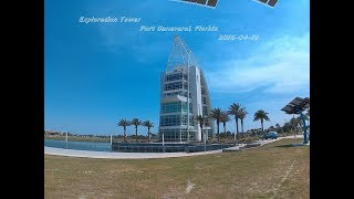 2018- 04-19 Exploration Tower in Port Canaveral Schindler 400A elevators