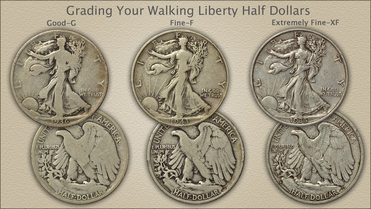 Various Mint Marks Walking Liberty Half Dollar XF//VF 90/% Silver Extra Fine Half Dollar Very Fine Half Dollar Extremely Fine//Very Fine