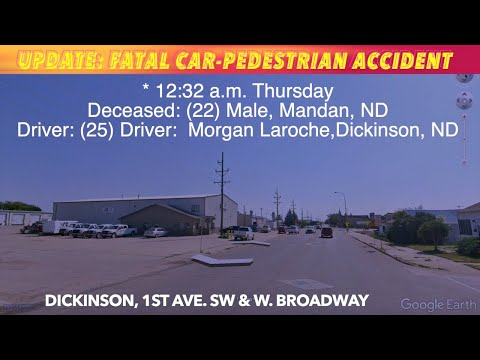 Pedestrian struck and killed in Dickinson early Thursday