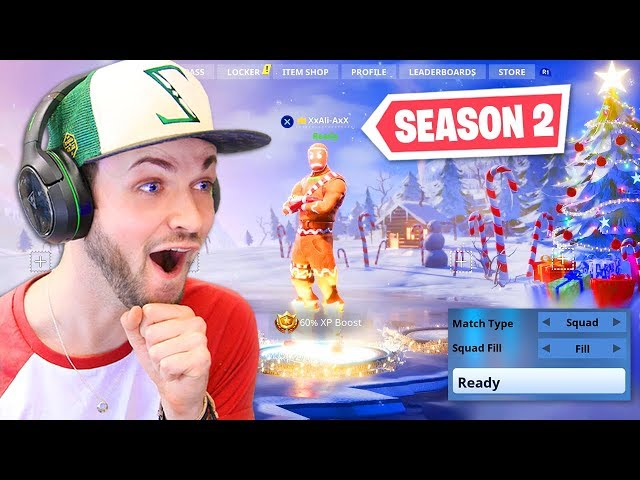 Playing Fortnite SEASON 2 in 2018!