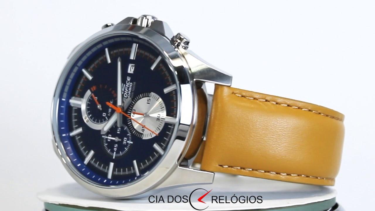 ae511226782 Relógio Casio Edifice Masculino EFV-520L-2AVUDF - YouTube
