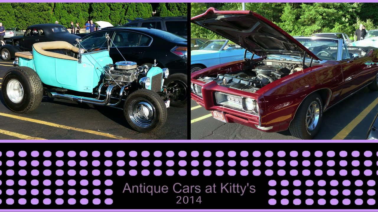 Antique Car Show At \'Kitty\'s\' In North Reading, MA Summer 2014 - YouTube