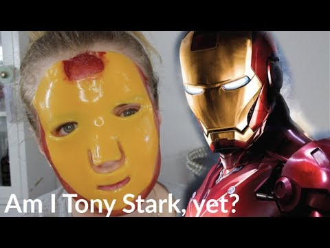 IRON MAN DIY FACE MASK| how to| reagan hart