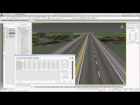 Using 3ds Max Design With Civil 3D - Part 13 - Creating Road Markings